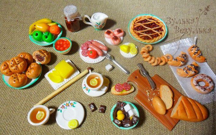 Еда для кукол из соленого теста своими руками