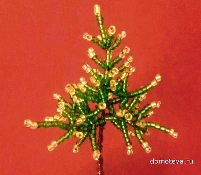 Новогодняя елка из бисера