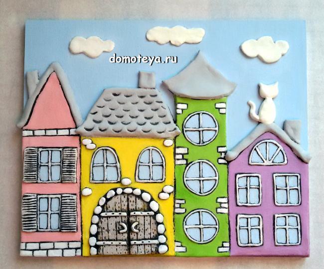 Панно для детской комнаты в светлых тонах
