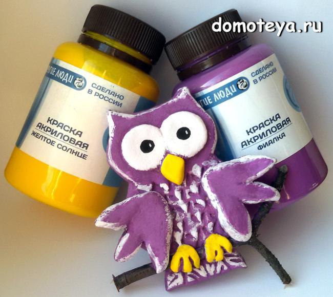 Как красить соленое тесто акриловыми красками